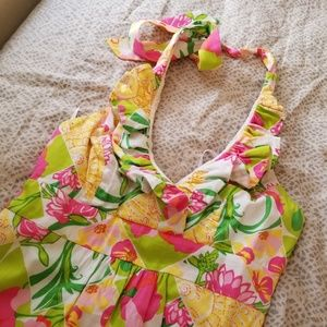 Lilly Pulitzer Ramona ruffle halter dress sz 4
